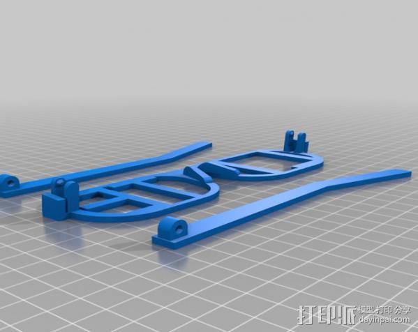 iLITE字母眼镜 3D模型  图3