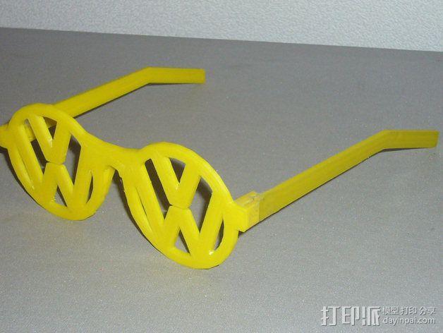 大众汽车标志眼镜 3D模型  图5