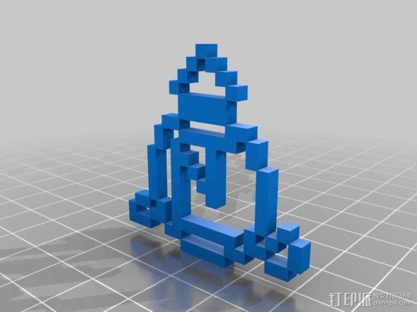 像素级超自然天使消亡印记 3D模型  图1