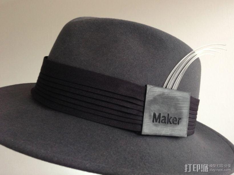 可定制帽带夹 3D模型  图1