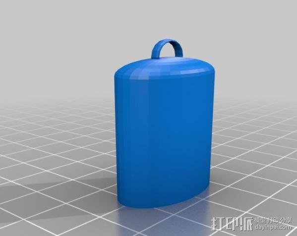 Lighter Leash打火机套挂件 3D模型  图1