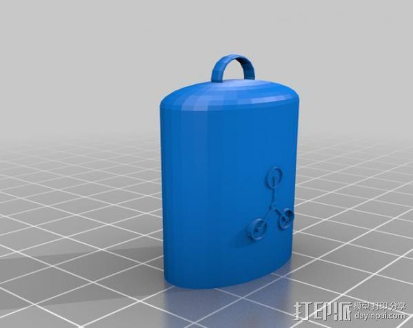 Lighter Leash打火机套挂件 3D模型  图2