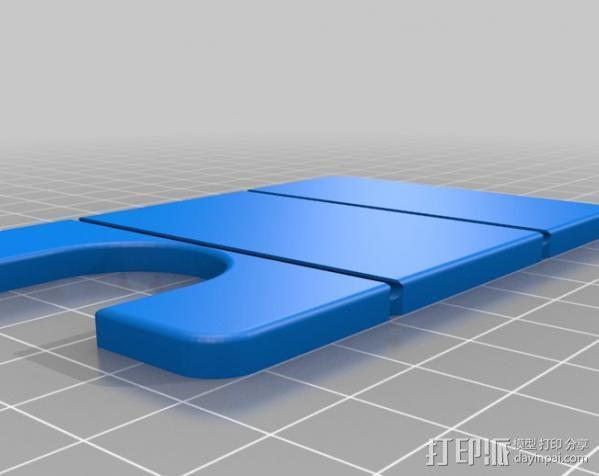 极简主义钱包 3D模型  图1
