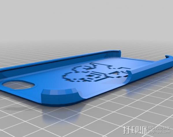 iPhone 5/5s洛克人外壳 3D模型  图1