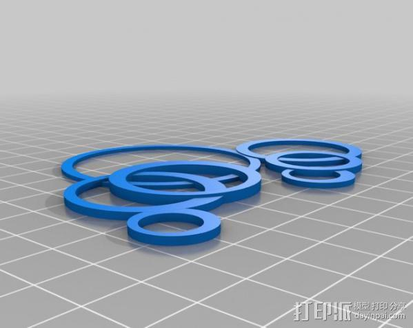 我的定制环状项链 3D模型  图1