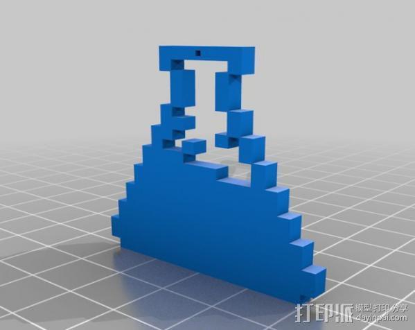 像素图形挂件 3D模型  图1