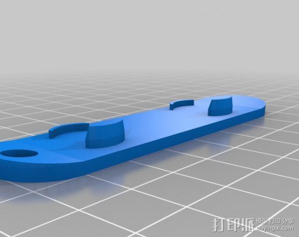 滑雪板钥匙链 3D模型  图1