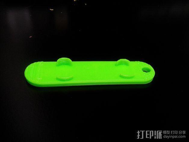 滑雪板钥匙链 3D模型  图2