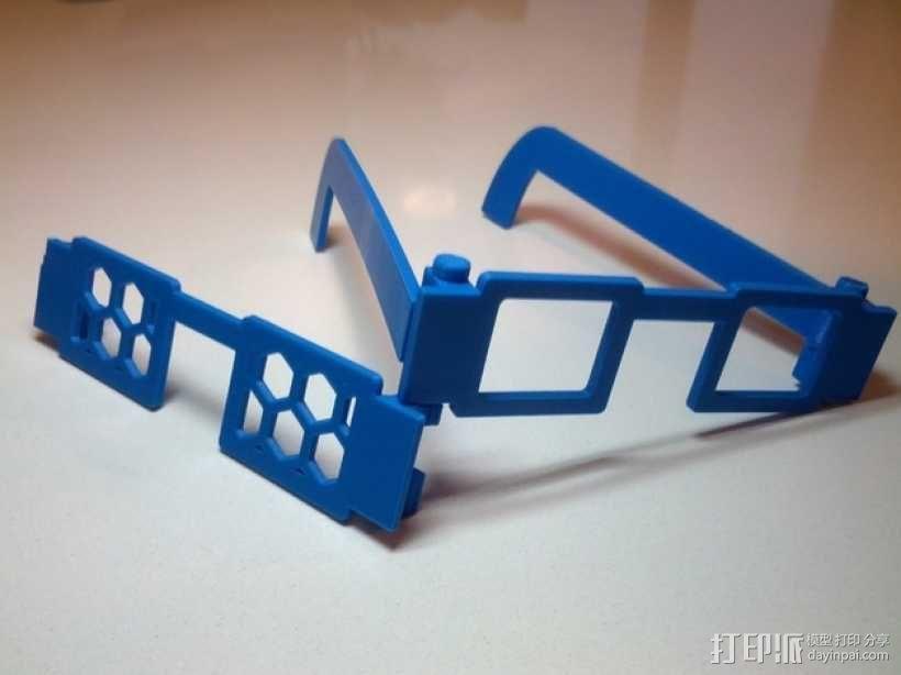 可定制眼镜 3D模型  图1