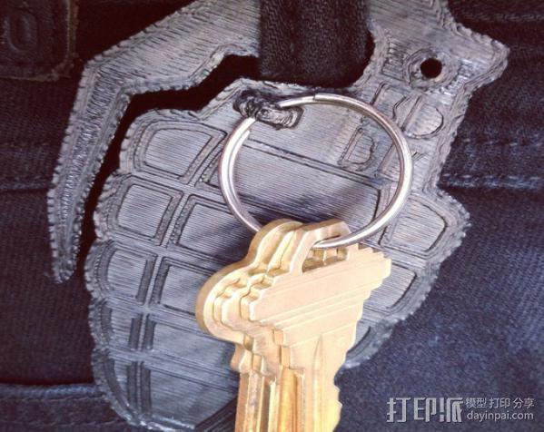 手榴弹钥匙扣 3D模型  图3