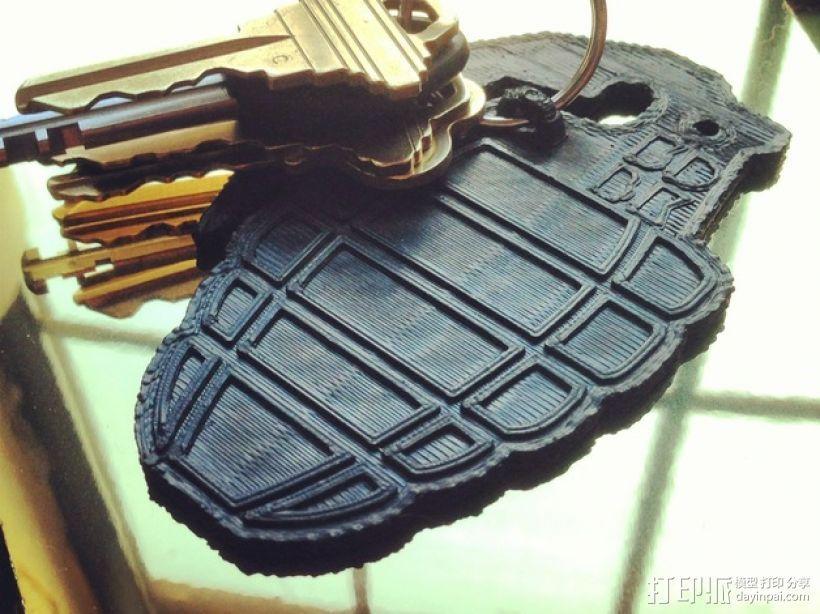 手榴弹钥匙扣 3D模型  图1