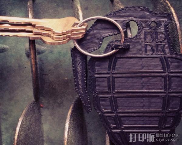 手榴弹钥匙扣 3D模型  图2