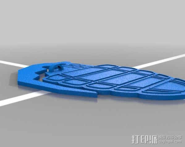 手榴弹钥匙扣 3D模型  图4