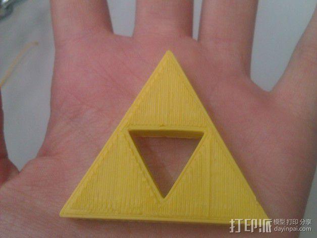 三联钥匙链 3D模型  图2