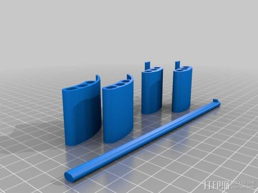 曼达洛手套闩 3D模型  图1
