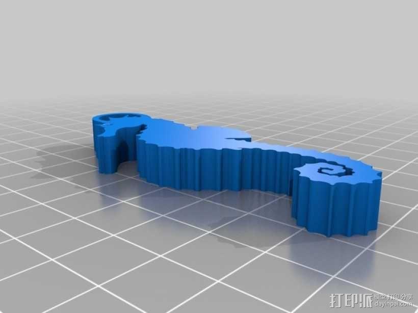 海马钥匙扣 3D模型  图1