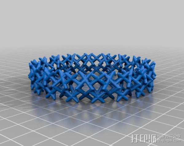 三角钉形手镯 3D模型  图4
