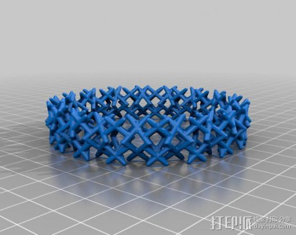 三角钉形手镯 3D模型  图5