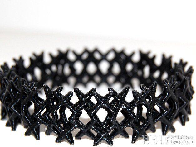 三角钉形手镯 3D模型  图6