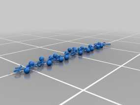 蛋白质分子项链 3D模型