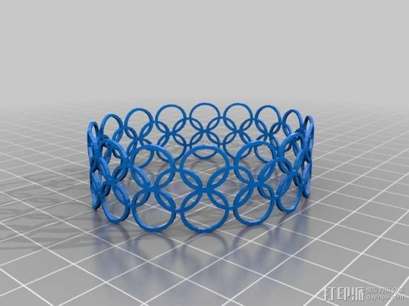 定制特色手环 3D模型  图1