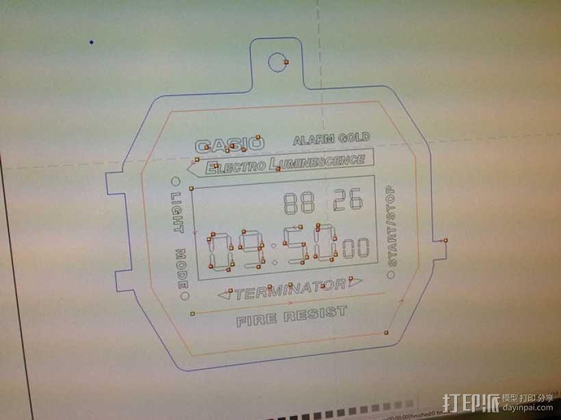 卡西欧手表项链挂饰 3D模型  图2