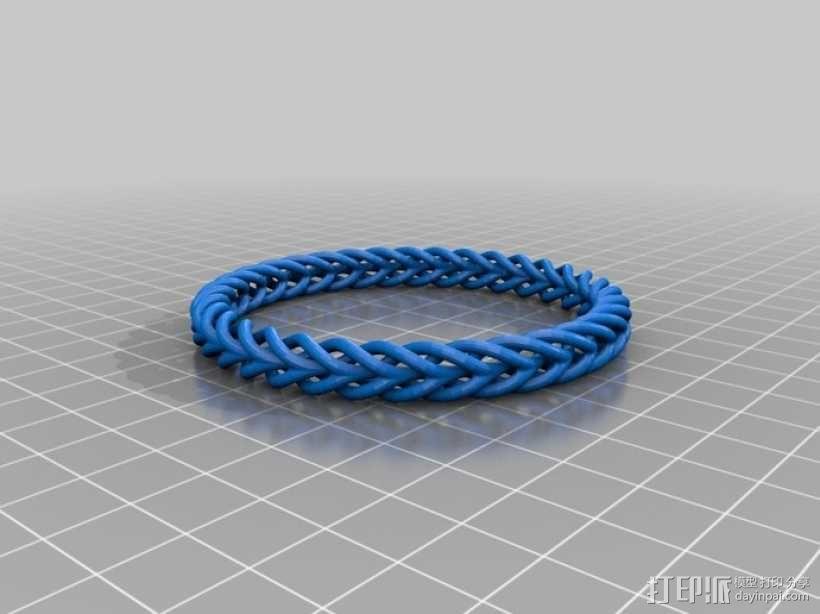 编织结构环 3D模型  图1
