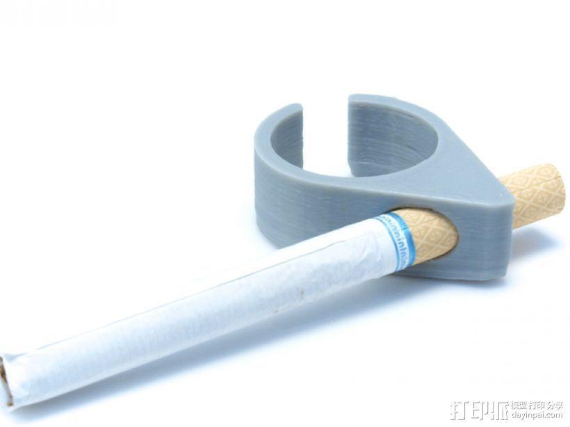 香烟手套夹 3D模型  图1