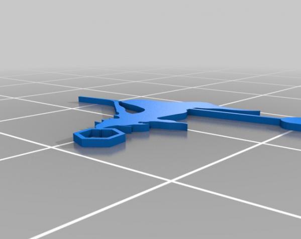 女巫耳环 3D模型  图1