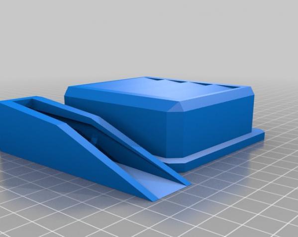 高科技镜片壳 3D模型  图1