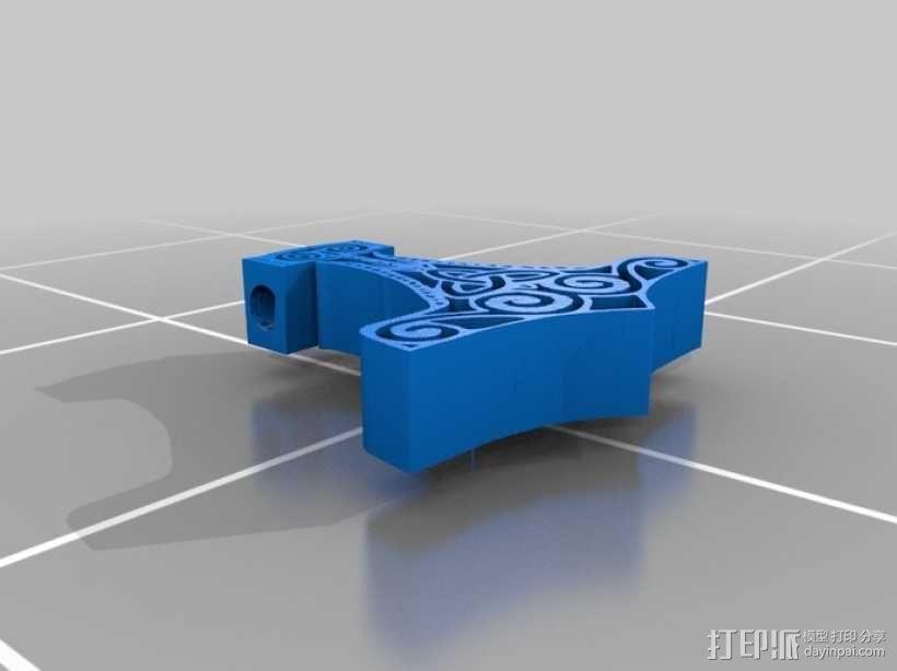 雷神之锤 项链 3D模型  图1
