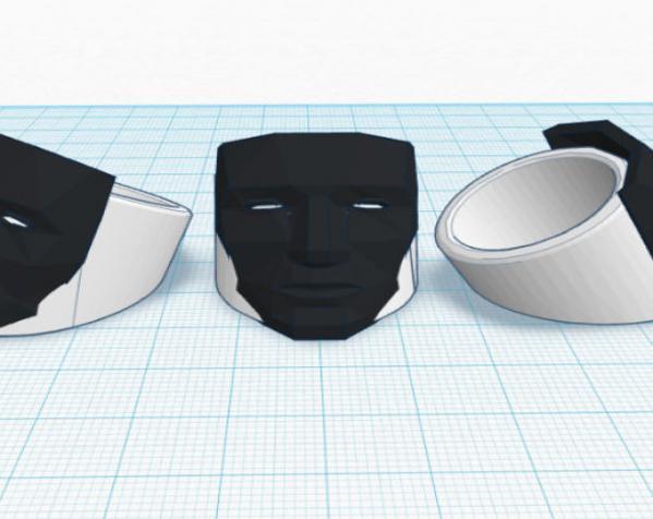 人脸戒指 3D模型  图2