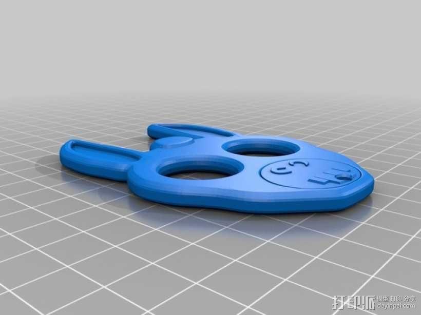 驴头项链 3D模型  图2