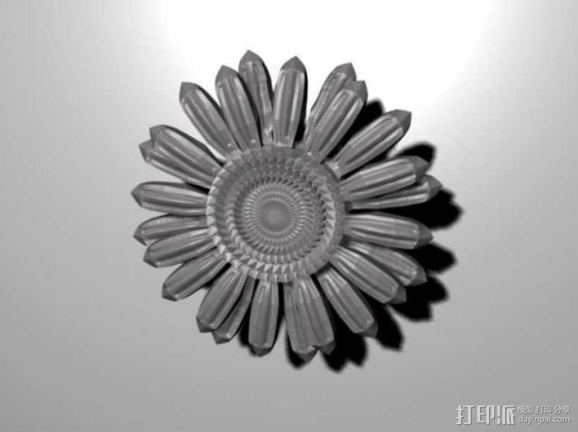 太阳花 3D模型  图2