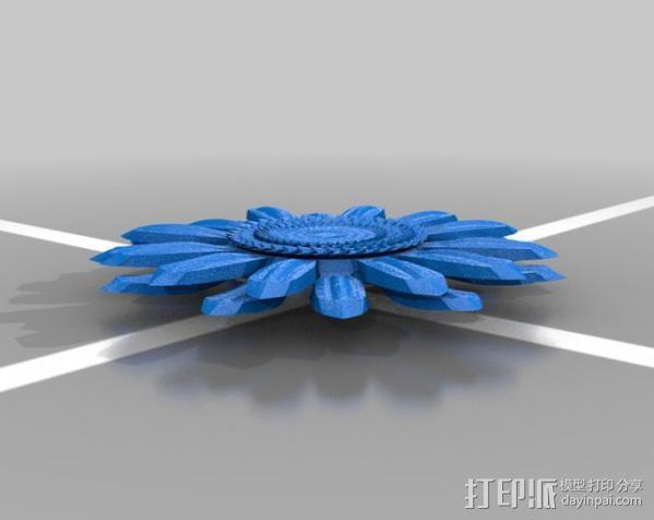 太阳花 3D模型  图1