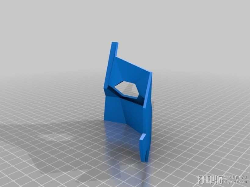 可打印低聚面具 3D模型  图1