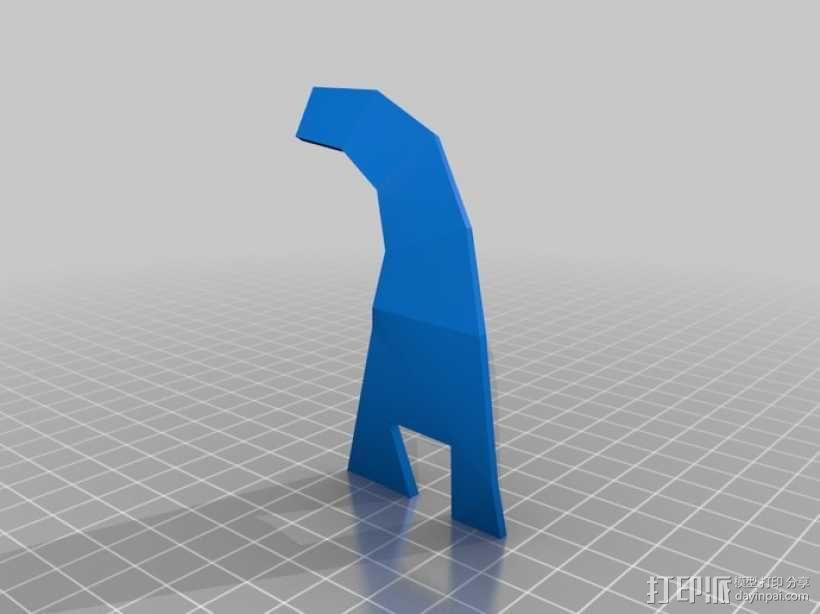 可打印低聚面具 3D模型  图4