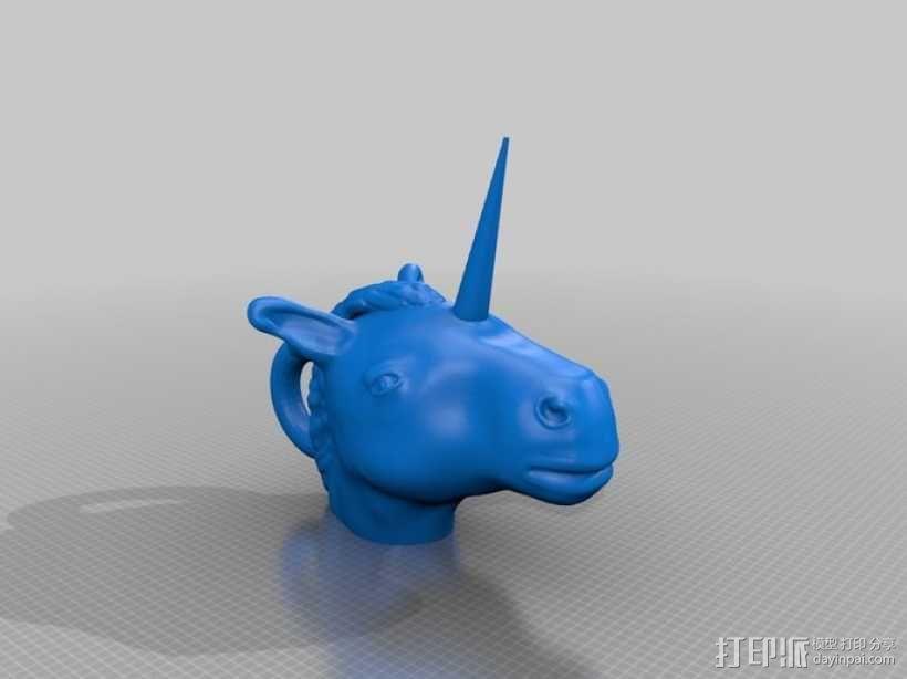 独角兽 3D模型  图1