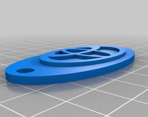 可定制钥匙环 3D模型  图2