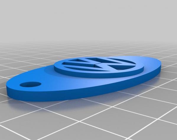 可定制钥匙环 3D模型  图3