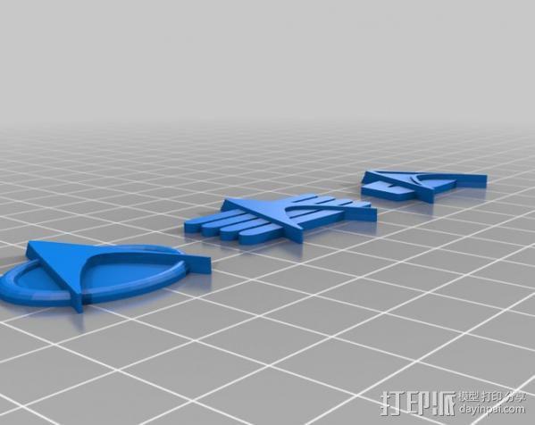 星际迷航通用徽章 3D模型  图1