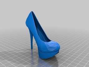 高跟鞋 3D模型