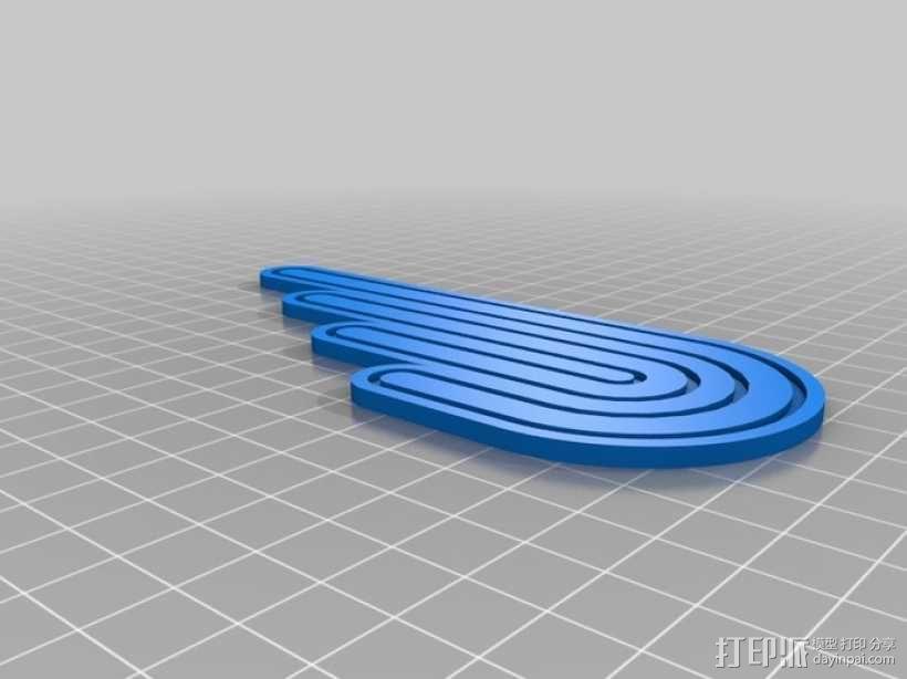 翅膀拐杖 3D模型  图3