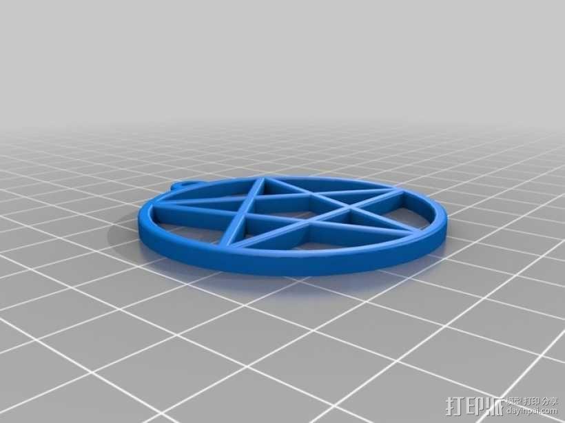 五角星吊坠 3D模型  图1