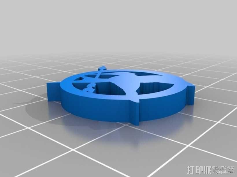 嘲笑鸟标志 3D模型  图1