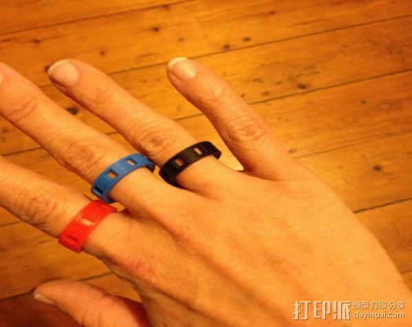 带有方形切口的参数型戒指 3D模型  图2