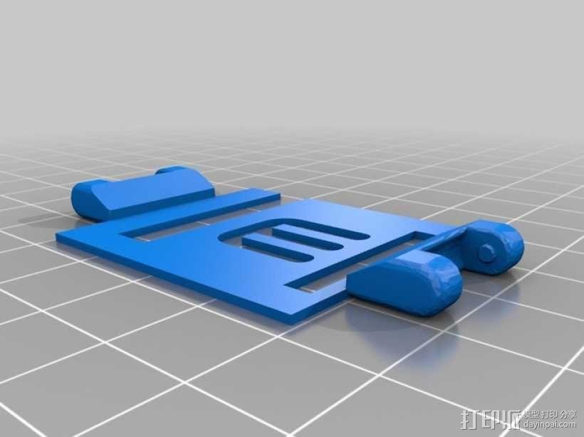 ipod 6适配器 3D模型  图2