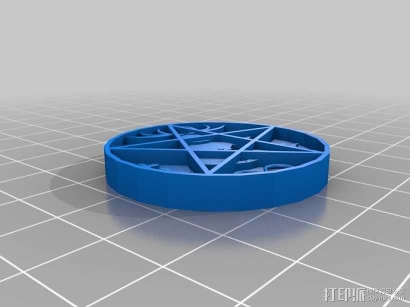 五角星挂件 3D模型  图1