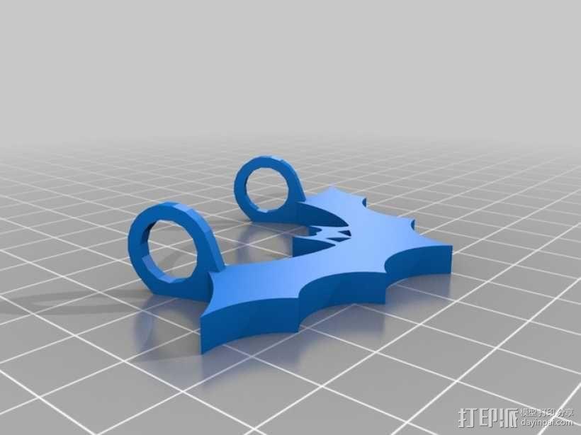 荧光棒的蝙蝠挂饰 3D模型  图2