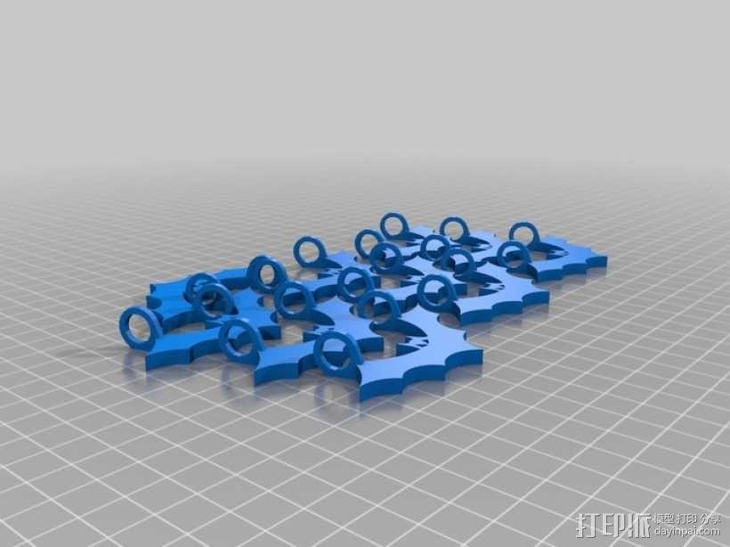 荧光棒的蝙蝠挂饰 3D模型  图4